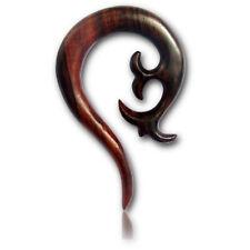 PAIR OF 0G (8MM) SONO WOOD SPIRALS STRETCHERS TALONS PLUGS EAR PLUG HANGER