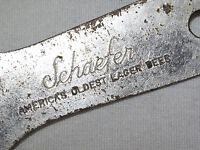 VINTAGE BAR  SCHAEFER AMERICAS OLDEST LAGER BEER  METAL BOTTLE CAN OPENER