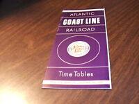 APRIL 1965 ACL ATLANTIC COAST LINE RAILROAD SYSTEM PUBLIC TIMETABLE