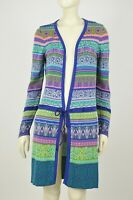KOOI knitwear Jacquard Strickjacke long Cardigan 42/L UK14
