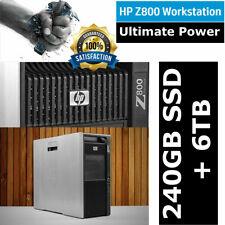 HP Workstation Z800 Xeon X5690 6-Core 3.46GHz 24GB DDR3 6TB HDD + 240GB SSD
