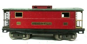 Lionel # 217 Red and Green Caboose Pre War Vintage Model Railway Train B47