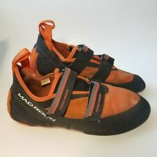 Mad Rock Flash Climbing Shoes, Used Indoors, Men's Size 10, Orange & Black