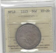 **1885** ICCS Graded NFLD Fifty Cent **VF-20**