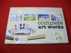 OPEN BOX COMPLETE ART WORKS KIT #IT-BCCA-34-1204-09 WATERCOLORS,PAINTS & PENCIL