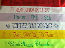 Disney Themed Personalised Hen Party Birthday Sash, Single or Double Sided Print