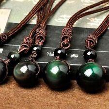 Black Crystal Beads For Lovers Top Lucky Obsidian Rainbow Ball Eye Pendant