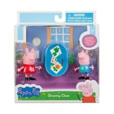 NEW! Peppa Pig and George Drawing Class 2 Pack Figures
