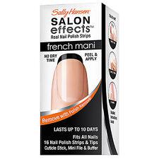 Sally Hansen Salon Effects French Real Nail Polish Strips 005 Noir Boudoir- NIB