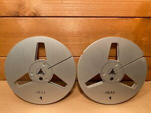 "Akai 7"" Metal Reel To Reel Tape Spools"
