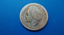 MONEDA DE PLATA  ESPAÑA  1 PESETA.  ALFONSO XIII  0.835/1000  AÑO 1893. PG. L