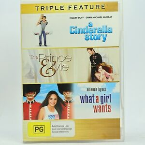 The Prince & Me / Cinderella Story / What a Girl Wants DVD 3 Movie Pack GC