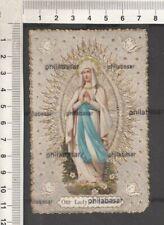 Andachtsbild Wallfahrtsbild Andenken an Lourdes Lady of Lourd Heilige Santino