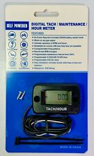 Tachometer Tach/Hour Meter Monitor Engine Run Time Max Rpm Universal All Engine