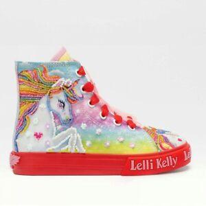 Lelli Kelly Sneaker Unicorn Mid Rosso Bambina