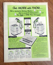 1947 Thor Automagic Clothes Washer & Dish Washer Ad