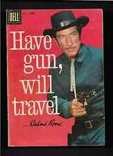 """1958 1st  ISSUE """" HAVE GUN WILL TRAVEL """" RARE  DELL TV COMIC 931 NICE"""