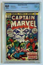 CAPTAIN MARVEL #28, Marvel Comics, CBCS 8.0 not CGC, 4th Thanos
