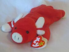 Ty Beanie Baby Snort The Red Bull 1995 4th Hang Tag 3rd Tush Tag PVC