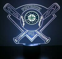 Seattle Mariners MLB Baseball Personalized FREE Light Up 3D Illusion LED