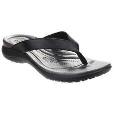 Crocs Capri V Flip Women US 10 Black Thong Sandal 2718