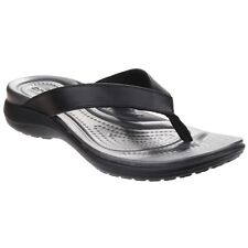 4acb3691c078 Crocs Womens Sandals Capri V Flip Black Graphite Size 9 Relaxed