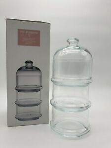 Pasabahce Patisserie Basic Set 3 Etagen mit Kuppel Glas