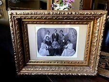 Antique Vintage Ornate Double  Wood Rococo Leaf Gold Gilt Picture Frame
