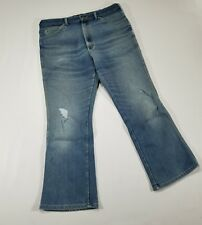 Lee Jeans VTG 70s/80s Bootcut Jeans 38x30 distress 5-pocket Union Made USA