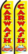Car Wash King Size  Swooper Flag  sign pk of 2