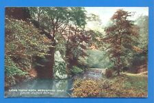 NORTH STAFFORD RAILWAY OFFICIAL POSTCARD.LIONS TOOTH ROCK,BERESFORD DALE 1906