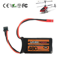 VOK Lipo RC Battery JST for RC Helicopter Airplane Car 7.4V 480mAh 2S 25C NEW