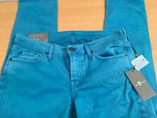 WOMEN'S 7 FOR ALL MANKIND ROXANNE SLIM JEANS W34 NEW GENUINE RRP £200 GORGEOUS