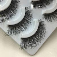 5 Pairs Nautral Soft Thick False Makeup Cross Eyelashes Eye Lashes Handmade