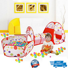 Baby Play Tunnel and Tent Ball Pit Toddler Toy Stages Indoor Outdoor Gamehouse W