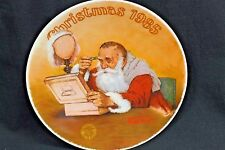 "Edwin M. Knowles ""Grandpa Plays Santa"" By Norman Rockwell Collector's Plate"
