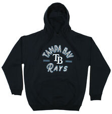 Zubaz MLB Men's Tampa Bay Rays Arched Logo Fleece Pullover Hoodie