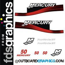 Mercury 50hp four stroke EFI outboard decals/sticker kit