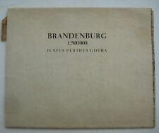 Justus Perthes Gotha Karte Brandenburg Landkarte Leipzig Schwerin Magdeburg 1947