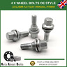 4 x Original Style Alloy Wheel Bolts M12x1.25 For Peugeot 3008 (2009-16)