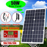 50W Solar Panel kit 12V Battery Charge 10A/20A/30A Controller Caravan Boat