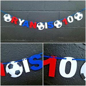 Personalised RANGERS Football team Birthday Bunting Party GLASGOW RFC Banner