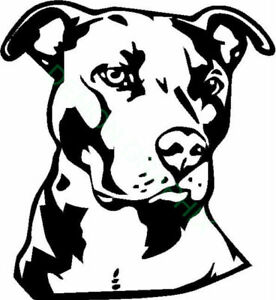 Vinyl Decal for Window  - Pit Bull (May Customize w/ Name)