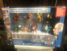 NEW Paw Patrol Limited Edition Metallic Series Action Pack Pups Figures