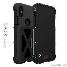 R-just Armor King IronnMan Stainle Steel Flip Metal Case For iPhone X XR XS Max