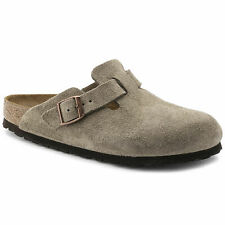 NEW- BIRKENSTOCK 'BOSTON' Taupe SUEDE LEATHER Size: US W6 / M4