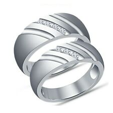 Christmas Special Wedding Promise Band Couple Rings