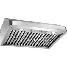 AKDY 30 in. Under Cabinet Range Hood in Stainless Steel with LEDs and Electronic