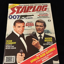 STARLOG MAGAZINE-JAMES BOND-SEAN CONNERY-ROGER MOORE-NEVER SAY NEVER-OCTOPUSSY