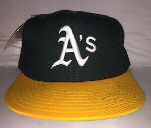 Vtg Oakland Athletics A's NEW ERA Fitted size 7 3/4 90s rare MLB Baseball nwt